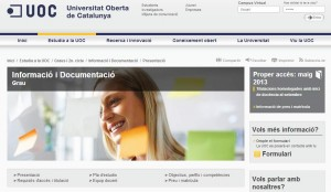 Grado Información y Documentación UOC